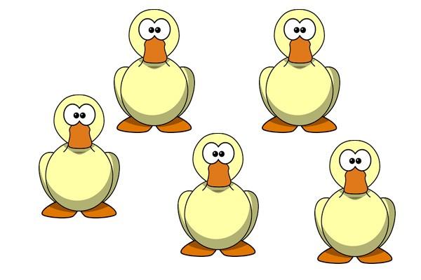 Cuántas patas tienen 5 patos
